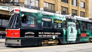 Streetcar on St Patricks Day
