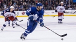 Toronto Maple Leafs Nazem Kadri brings the puck up ice during second period NHL hockey action against the Columbus Blue Jackets in Toronto, on Wednesday, February 14 , 2018.THE CANADIAN PRESS/Chris Young
