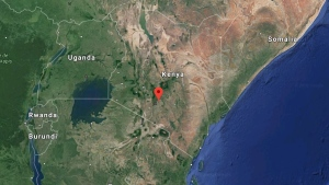 The Ruai area on the outskirts of Nairobi, Kenya is indicated. (Google)
