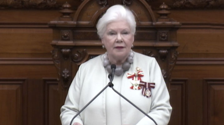 Ont. Lt.-Gov. Elizabeth Dowdeswell delivers a throne speech at Queen's Park on March 19, 2018.