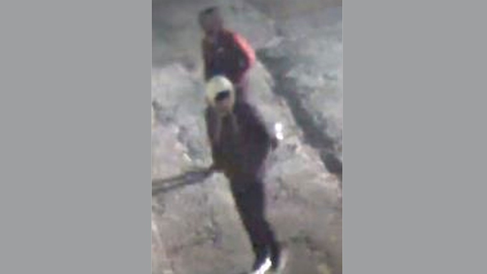 Two suspects wanted in connection with the shooting death of Nnamdi Ogba are pictured in this surveillance image.