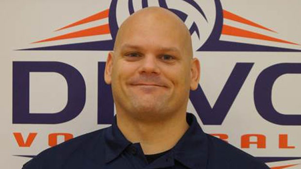 Thomas Grieve pictured above in a head shot used by the DRVC Volleyball Club. The photo has since been removed. (Durham Rebels Volleyball Club).