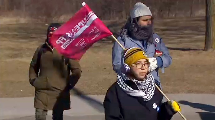 York University contract staff striking.