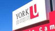 A sign for Toronto's York University is seen in this undated file photo.