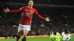 In this Dec. 26, 2016, file photo, Manchester United's Zlatan Ibrahimovic, left, celebrates after scoring his side's second goal during an English Premier League soccer match against Sunderland at Old Trafford in Manchester, England. Sources with knowledge of the deal say Ibrahimovic has signed a two-year contract with Major League Soccer to leave Manchester United and join the LA Galaxy. The sources spoke to The Associated Press on the condition of anonymity Thursday, March 22, 2018, because the deal had not been announced. The agreement was first reported by the Los Angeles Times. (AP Photo/Rui Vieira, File)