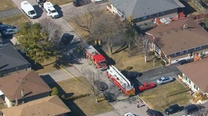 An elderly woman is dead after a fire broke out at a Pickering home.
