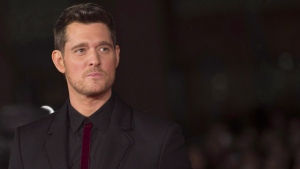 Canadian singer Michael Buble arrives for the screening of the movie ' Tour Stop 148 ' at the Rome Film festival in Rome, Friday, Oct. 14, 2016. THE CANADIAN PRESS/AP, ANSA