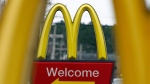 In this Feb. 15, 2018, file photo, shows a sign for a McDonald's restaurant in Brandon, Miss. (AP Photo/Rogelio V. Solis, File)