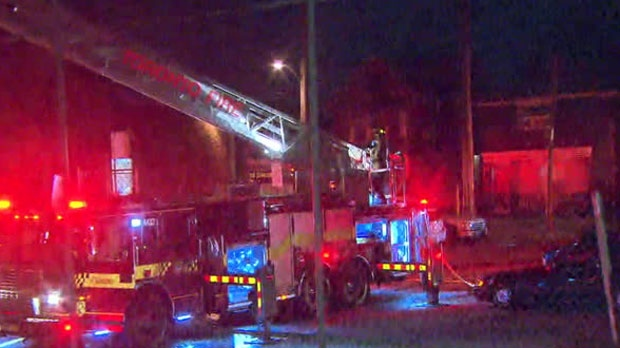 Crews were at the scene of a fire at an Etobicoke elementary school early Monday morning.