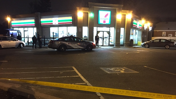 One person is dead following a stabbing inside a convenience store in East York. (Mike Nguyen/ CP24)