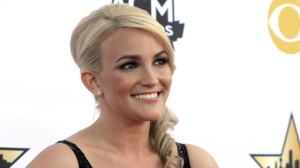 In this April 19, 2015, file photo Jamie Lynn Spears arrives at the 50th annual Academy of Country Music Awards in Arlington, Texas. Britney Spears has a new niece. The singer on Thursday, April 12, 2018, tweeted congratulations to her sister, Jamie Lynn Spears, for the birth of her second daughter. (Photo by Jack Plunkett/Invision/AP, File)