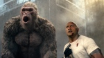 This image released by Warner Bros. shows Dwayne Johnson in a scene from 'Rampage.' (Warner Bros. via AP)