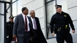 Bill Cosby arrives for his sexual assault trial, Wednesday, April 18, 2018, at the Montgomery County Courthouse in Norristown. (AP Photo/Matt Slocum)