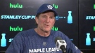 Mike Babcock coach of the Maple Leafs talks about getting to know how the Bruins play ahead of Game 4 in the playoffs.
