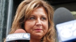 "In this June 27, 2016, file photo, ""Dance Moms"" star Abby Lee Miller, after pleading guilty to bankruptcy fraud and failing to report thousands of dollars in Australian currency she brought into the U.S., leaves federal court in Pittsburgh. (AP Photo/Keith Srakocic, File)"