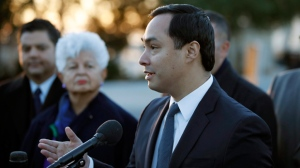 Congressional Hispanic Caucus First Vice Chair, Rep. Joaquin Castro, D-Texas, speaks about the Deferred Action for Childhood Arrivals (DACA) program during a news conference on Capitol Hill, Monday, March 5, 2018, in Washington. (AP Photo/Alex Brandon)