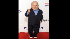 FILE- In this May 22, 2011, file photo, Verne Troyer arrives at The 26th Annual Sports Spectacular in Los Angeles, Calif. (AP Photo/Katy Winn, File)