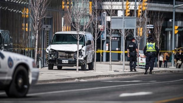 Identifying 10 killed in Toronto van attack could take days, coroner says