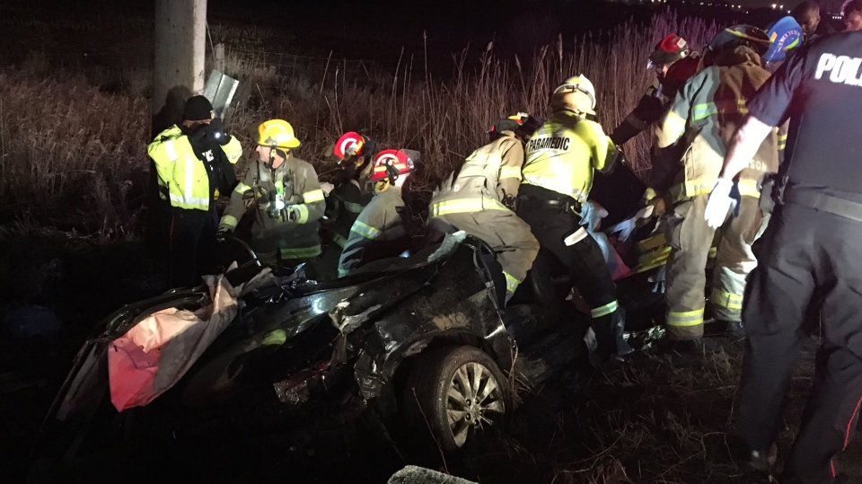 One dead and three injured after crash involving stolen vehicle near