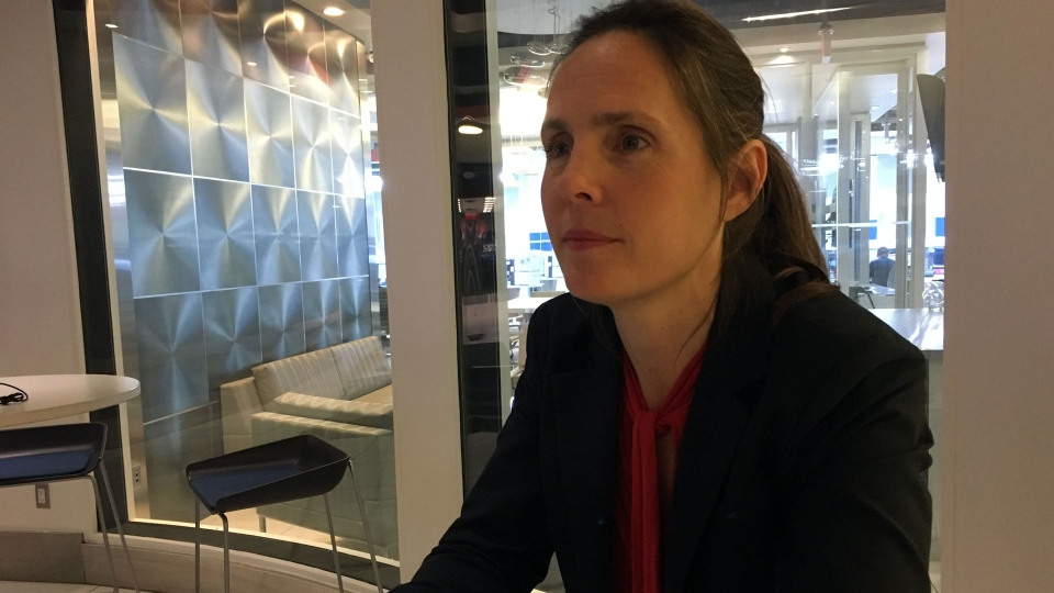 Sarah Climenhaga is running in Toronto's mayoral race. (Joshua Freeman / CP24)