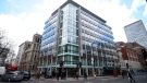 This March 20, 2018 file photo shows the offices of Cambridge Analytica in central London. (Kirsty O'Connor/PA via AP, file)