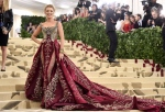 Blake Lively attends The Metropolitan Museum of Art's Costume Institute benefit gala celebrating the opening of the Heavenly Bodies: Fashion and the Catholic Imagination exhibition on Monday, May 7, 2018, in New York. (Photo by Evan Agostini/Invision/AP)