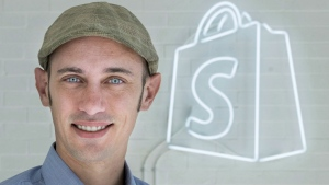 Tobi Lutke, CEO of Shopify, an online store, is seen in the company's Montreal office on February 18, 2015. THE CANADIAN PRESS/Paul Chiasson