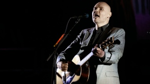 In this Saturday, March 26, 2017 file photo, Billy Corgan of the Smashing Pumpkins performs at The Theatre at Ace Hotel in Los Angeles. (Photo by Chris Pizzello/Invision/AP, File)