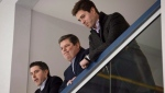 Dave Nonis, centre, then senior vice-president and GM of the Toronto Maple Leafs, watches the team practice with Brandon Pridham, left, assistant to the GM, and Kyle Dubas, assistant GM. Kyle Dubas has been promoted to general manager of the Toronto Maple Leafs. The 32-year-old succeeds Lou Lamoriello, who was shifted to the role of senior adviser last month. THE CANADIAN PRESS/Darren Calabrese