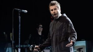 British singer Liam Gallagher performs at the Greek Theatre, Friday, May 11, 2018, in Los Angeles. (Photo by Chris Pizzello/Invision/AP)