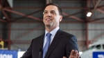 Tim Hudak addresses the media in Mississauga, Ontario on Thursday, June 12, 2014. THE CANADIAN PRESS/Chris Young