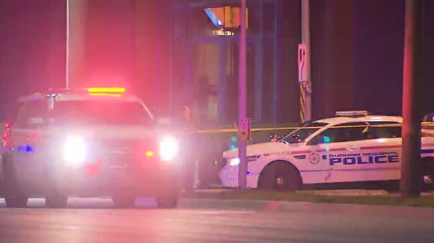 One male pedestrian was struck and killed by a vehicle in Ajax on Tuesday night.