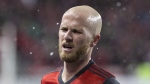 Toronto FC captain Michael Bradley reacts following his team's 2-1 loss to Chivas de Guadalajara in CONCACAF Champions League final first leg action in Toronto on Tuesday, April 17, 2018. Toronto FC's list of walking wounded is beginning to thin. And not a moment too soon. THE CANADIAN PRESS/Chris Young