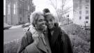 Whitney Houston (right)