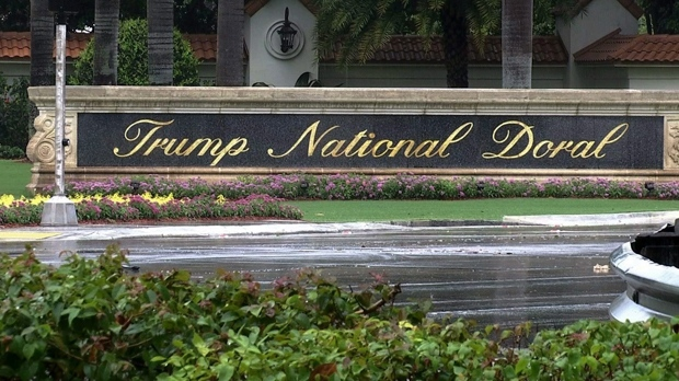 This June 2, 2017 frame from video shows the Trump National Doral in Doral, Fla. (AP Photo/Alex Sanz)