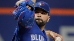 Toronto Blue Jays pitcher Jaime Garcia delivers against the New York Mets during the first inning of a baseball game, Tuesday, May 15, 2018, in New York. (AP Photo/Julie Jacobson)