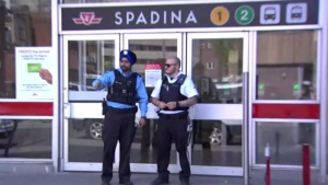 Toronto police are investigating after an apparently random stabbing at Spadina Station Sunday May 20, 2018.