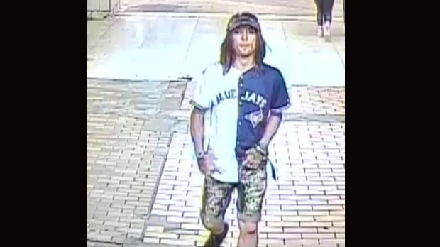 Police have released this photo of a suspect wanted in connection with a random stabbing at Spadina Station on Sunday. (Toronto police handout)