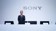 Sony Corp. CEO Kenichiro Yoshida attends at a press conference at the company's headquarters Tuesday, May 22, 2018, in Tokyo. (AP Photo/Eugene Hoshiko)