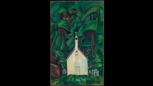 "Emily Carr's painting ""Church In Yuquot Village"" is shown in this undated handout photo. Carr exhibited the 1929 painting as ""Indian Church"" before it was retitled ""Church in Yuquot Village.""THE CANADIAN PRESS/HO, Art Gallery of Ontario"