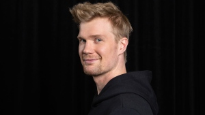 "In this May 12, 2018 photo, Finnish actor Joonas Suotamo, who portrays Chewbacca in ""Solo: A Star Wars Story,"" appears at a photo shoot to promote the film in Pasadena, Calif.  (Photo by Willy Sanjuan/Invision/AP)"