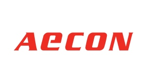 The corporate logo of Aecon Group Inc. (TSX:ARE) is shown. THE CANADIAN PRESS/HO