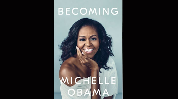 "This cover image released by Crown Publishing Group shows ""Becoming,"" by Michelle Obama, which comes out Nov. 13. (Crown Publishing Group via AP)"