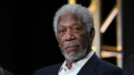 "In this Jan. 6, 2016, file photo, actor Morgan Freeman participates in the ""The Story of God"" panel at the National Geographic Channel 2016 Winter TCA in Pasadena, Calif. (Photo by Richard Shotwell/Invision/AP, File)"
