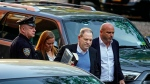 Harvey Weinstein arrives at the first precinct while turning himself to authorities following allegations of sexual misconduct, Friday, May 25, 2018, in New York. (AP Photo/Andres Kudacki)