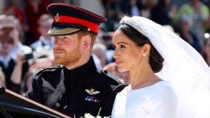 "Britain's Prince Harry and his wife Meghan Markle leave after their wedding ceremony, at St. George's Chapel in Windsor Castle in Windsor, near London, England, Saturday, May 19, 2018. A Page Six headline describing Jasper, Alta., as the ""world's most boring place"" has drawn the ire of social media users. The jab toplined an article stating that newlyweds Prince Harry and the former Meghan Markle will spend their honeymoon at the Fairmont Jasper Park Lodge. THE CANADIAN PRESS/Gareth Fuller, pool photo via AP"