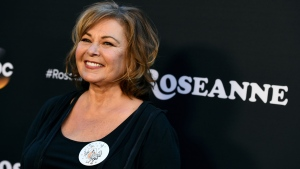 "In this March 23, 2018, file photo, Roseanne Barr arrives at the Los Angeles premiere of ""Roseanne"" on Friday in Burbank, Calif.  (Photo by Jordan Strauss/Invision/AP, File)"
