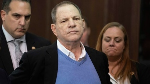 In this May 25, 2018 file photo, Harvey Weinstein listens during a court proceeding in New York. (Steven Hirsch/New York Post via AP, Pool)