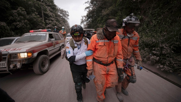 At least 25 people killed by erupting volcano in Guatemala