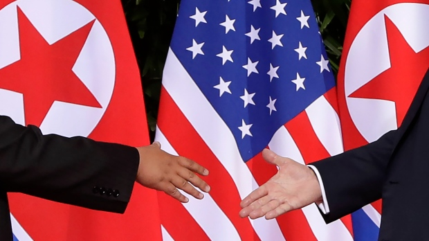 China urges 'full denuclearization' as Kim, Trump meet